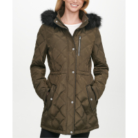 DKNY Women's 'Hooded Quilted' Anorak